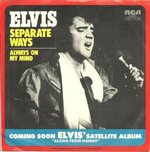 1972 - Always On My Mind - Elvis Presley, 7 inch single, U.S.A., front