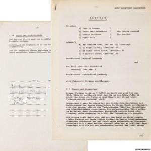 Beatles' første pladekontrakt, 1961