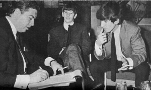 Peter Jones with Ringo Starr and George Harrison