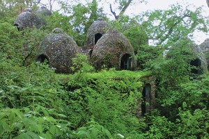 I disse hytter boede The Beatles under opholdet i Rishikesh