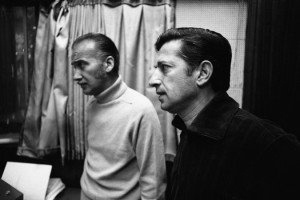 Luigi Creatore (t.h.) med sin fætter Hugo Peretti, 1968