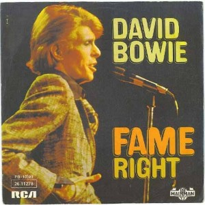 1975 - Fame - David Bowie, 7 inch single, Germany, front
