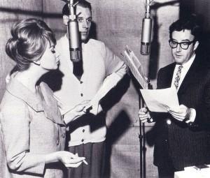 George Martin i studiet med Sophia Loren og Peter Sellers