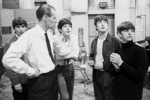 George Martin i studiet med The Beatles