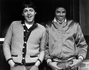 Paul McCartney og Michael Jackson