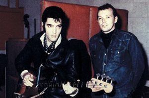 Elvis Presley 84 - with producer Chips Moman