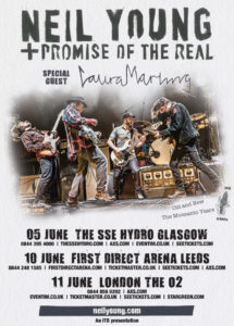 Neil Young + Promise Of The Real - concert poster, June 2016