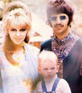 Ringo med hans første kone Maureen og sønnen Zak
