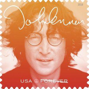 John Lennon, Forever stamp, U.S.A., 2018