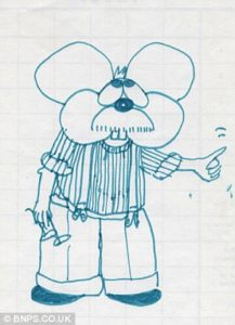 Bruce McMouse by Paul McCartney - sketch