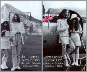 John Lennon frimærke, Gibraltar, 1999